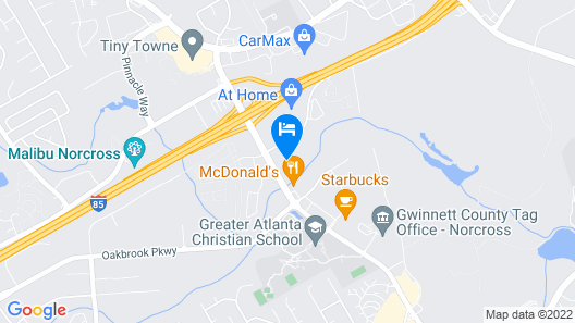 InTown Suites Extended Stay Atlanta GA - Indian Trail Map