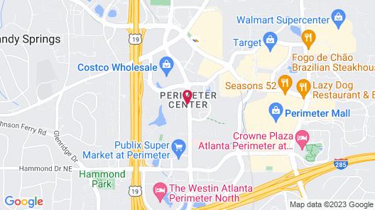 Courtyard by Marriott Atlanta Perimeter Center Map