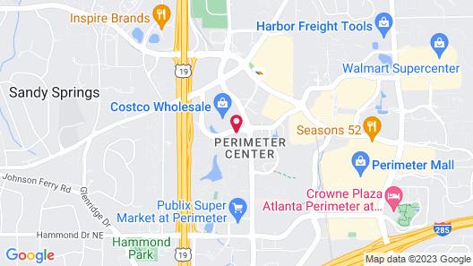 Extended Stay America - Atlanta - Perimeter - Crestline Map