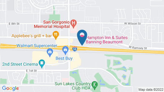 Hampton Inn & Suites Banning-Beaumont Map