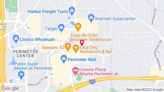 Hampton Inn & Suites by Hilton Atlanta Perimeter Dunwoody Map