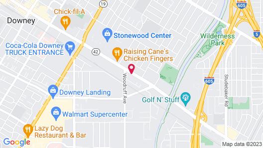 Quality Inn Downey Map