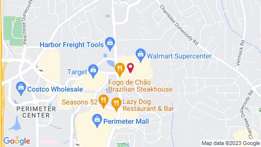 Residence Inn by Marriott Atlanta Perimeter Center/Dunwoody Map