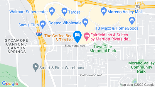 Holiday Inn Express & Suites Moreno Valley - Riverside, an IHG Hotel Map