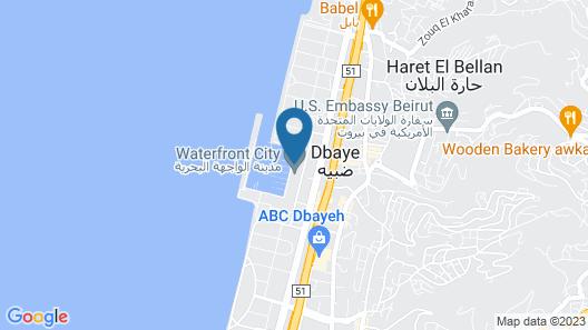 Waterfront City La Marina Dbayeh Map