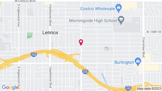 American Inn & Suites LAX Map