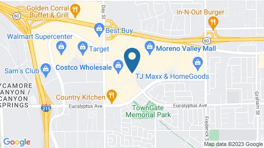 Ayres Hotel & Spa Moreno Valley Map