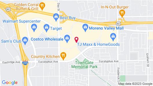 Hampton Inn and Suites Moreno Valley Map