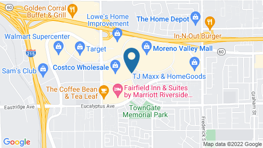 Hampton Inn and Suites Moreno Valley Map