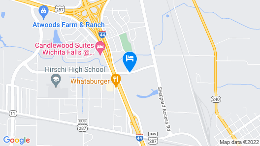 Executive Inn and Suites Wichita Falls Map