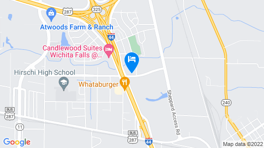 OYO Hotel Wichita Falls I-44 at Maurine St Map