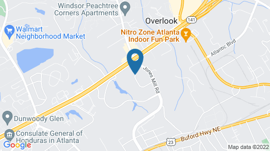 Extended Stay America Suites Atlanta Norcross Map