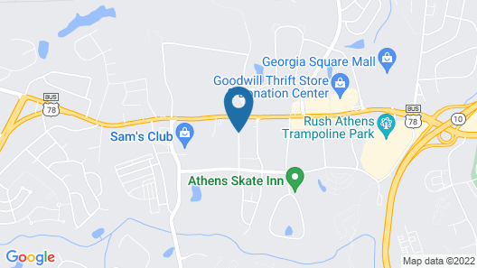 Candlewood Suites Athens, an IHG Hotel Map