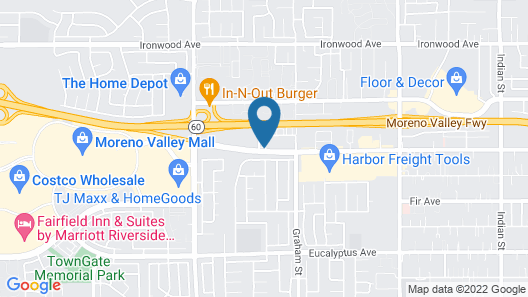 Comfort Inn & Suites Moreno Valley near March Air Reserve Base Map