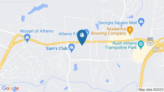 Sleep Inn & Suites Athens Map