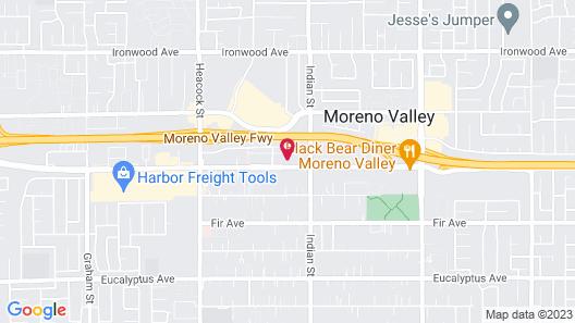 Econo Lodge Moreno Valley Map