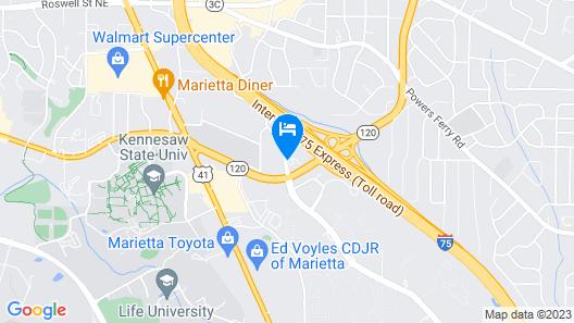 Wyndham Garden Marietta Atlanta North Map