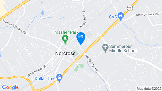 HomeTowne Studios Atlanta NE - Downtown Norcross Map