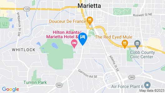 Hilton Atlanta/Marietta Hotel & Conference Center Map