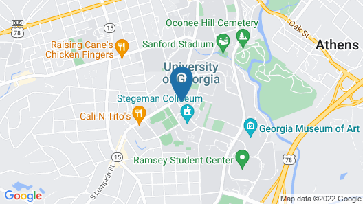 The University of Georgia Center for Continuing Education & Hotel Map