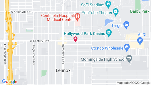 Los Angeles Backpackers Paradise Hostel Map