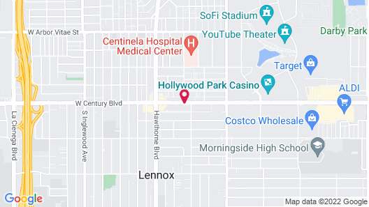 Los Angeles Adventurer All Suite Hotel at LAX Map