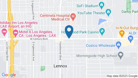 Super 8 by Wyndham Inglewood/LAX/LA Airport Map