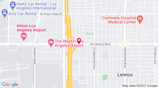 Best Western Plus Suites Hotel - Los Angeles LAX Airport Map
