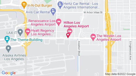 Hilton Los Angeles Airport Map