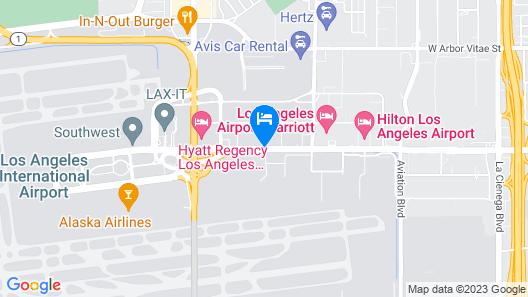 Sheraton Gateway Los Angeles Hotel Map