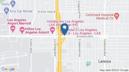 Motel 6 Los Angeles, CA - Los Angeles - LAX Map
