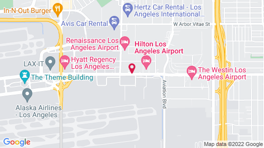 Los Angeles Airport Marriott Map