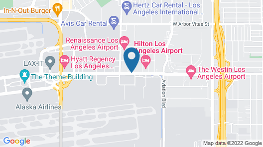 Los Angeles Airport Marriott Map