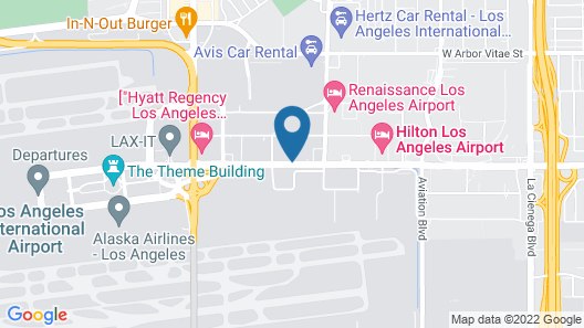 Crowne Plaza Los Angeles - International Airport Map