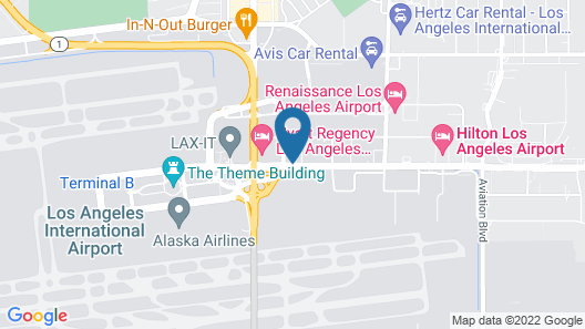 Courtyard by Marriott Los Angeles LAX/Century Boulevard Map