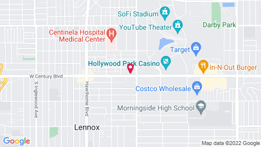 Holly Crest Hotel - Los Angeles, LAX Airport Map