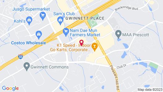 Hampton Inn & Suites Atlanta/Duluth/Gwinnett County Map
