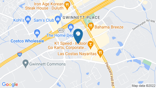 Hampton Inn & Suites Atlanta/Duluth/Gwinnett County Map