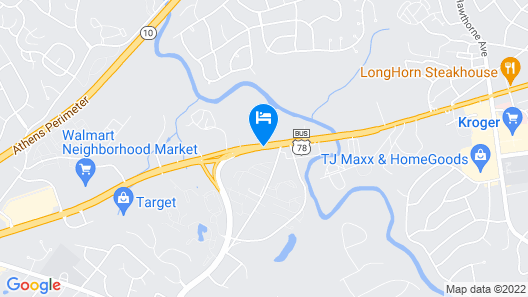 Quality Inn & Suites Athens University Area Map