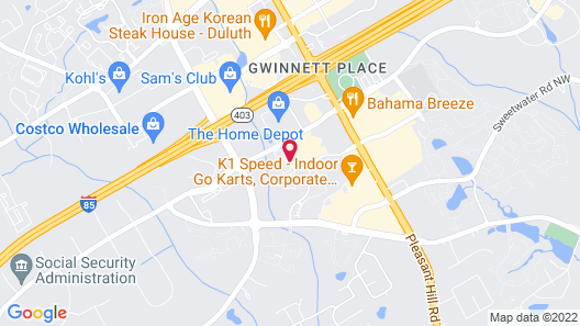 Residence Inn By Marriott Atlanta Gwinnett Place Map