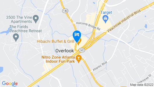 Extended Stay America - Atlanta - Peachtree Corners Map
