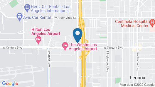 Holiday Inn Los Angeles - LAX Airport Map