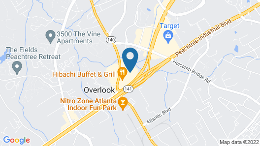 HomeTowne Studios by Red Roof Atlanta NE - Peachtree Corners Map