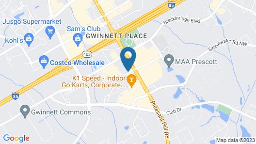 Sonesta Gwinnett Place Atlanta Map