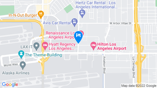 Four Points by Sheraton Los Angeles International Airport Map