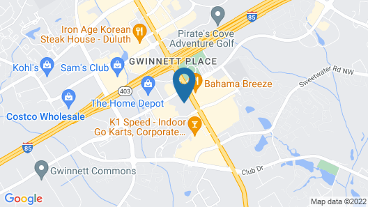 Sonesta ES Suites Gwinnett Place Atlanta Map