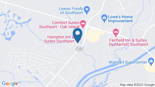 Hampton Inn & Suites Southport Map