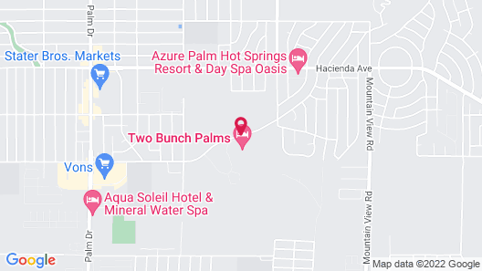 Two Bunch Palms Spa Resort - Adults Only Map