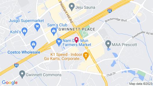 Sonesta Simply Suites Atlanta Gwinnett Place Map