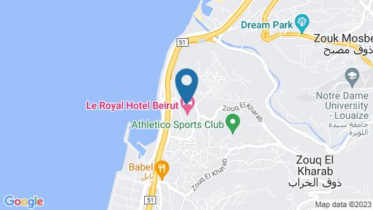 Le Royal Hotel- Beirut Map